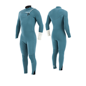 Prorider Shop Manera Wetsuit X10d 4.3mm Steel blue + Silky white
