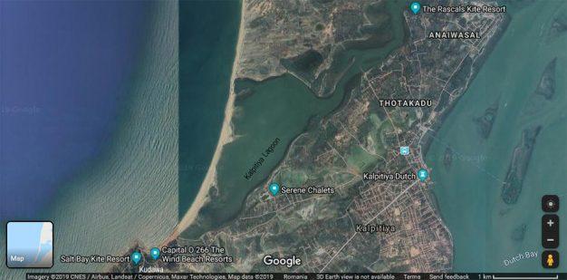 Prorider TRIP Sri Lanka Kalpitiya Map Satellite where to stay