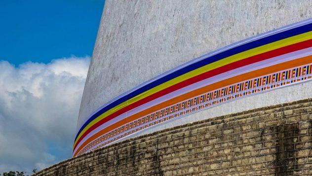 Prorider Trip Sri Lanka Frumusețe Anuradhapura (ruwanwelisaya) Stupa Culorile lui Buddha