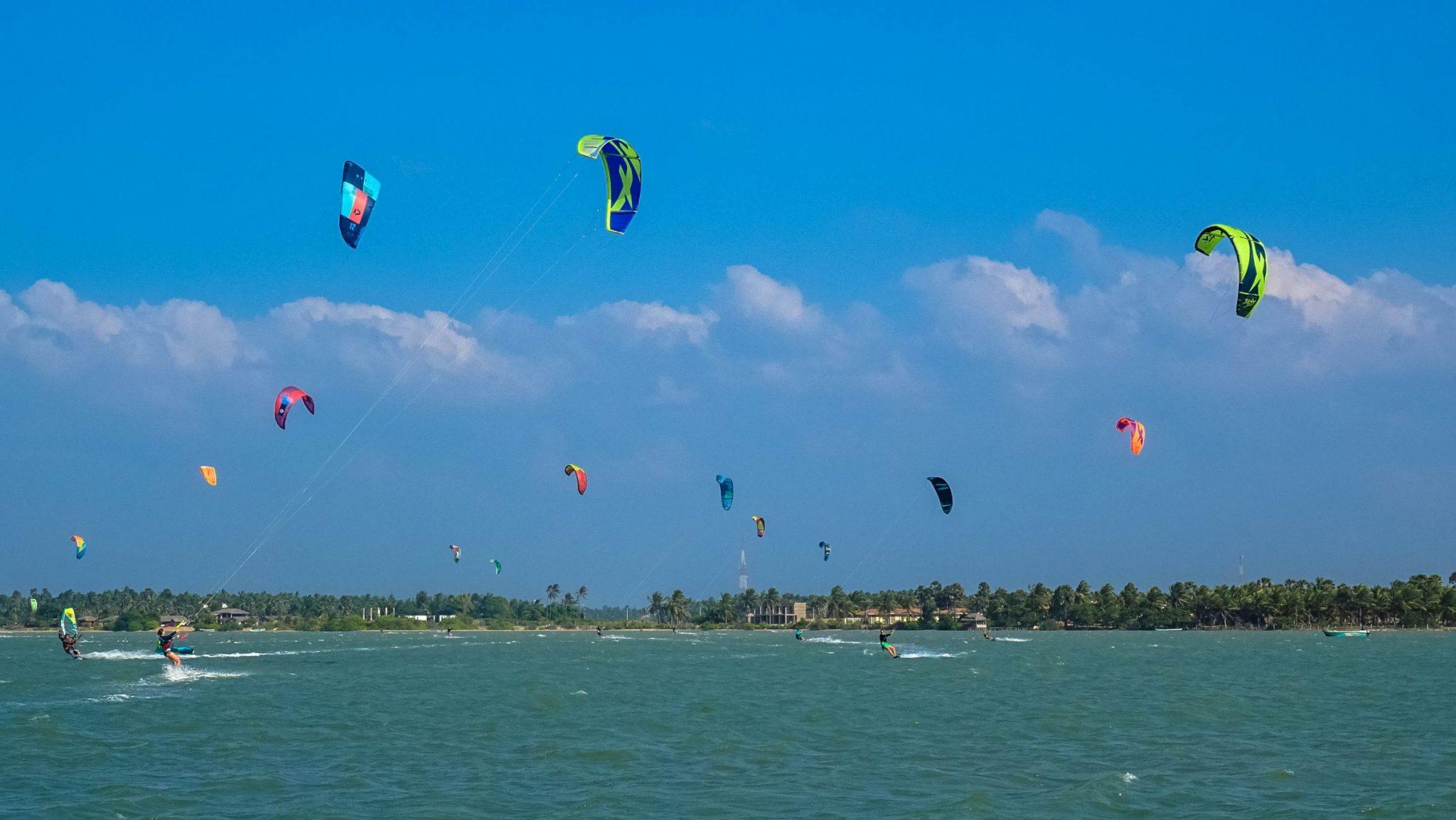 Prorider Trip Sri Lanka Kite Spot Kalpitiya Lagoon Flat Kitesurfers