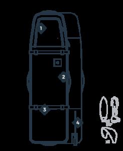 Prorider shop Manera Boardbag 747 Silhouette