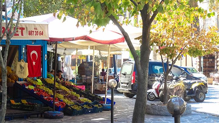 Prorider Story Trip Turkey Gokceada Centre Fruits Vegetables Stand