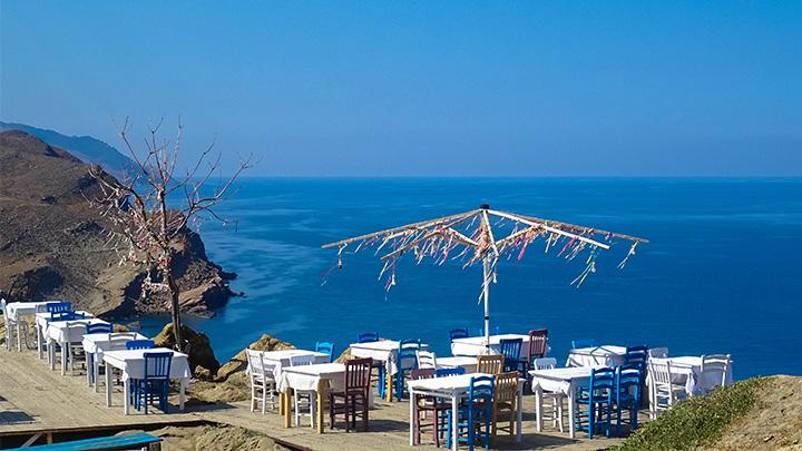 Prorider Story Trip Turcia Gokceada Restaurant grecesc Apus de soare