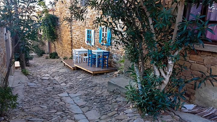 Prorider Story Trip Turkey Gokceada Greek Village Kelekoy Small Street