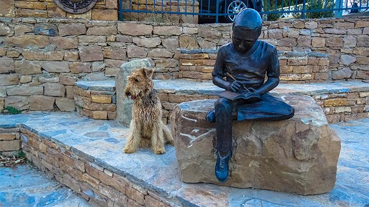 Prorider Story Trip Turkey Gokceada Greek Village Kelekoy Statue